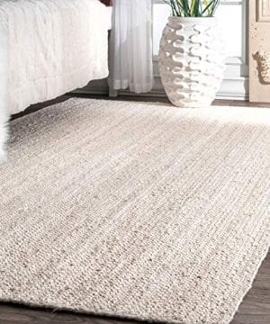 NuLOOM Rigo Hand Woven Jute Rug 3 X 5 Oval Off White 0 300x360