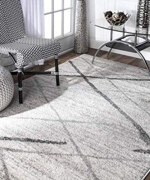 NuLOOM Thigpen Contemporary Area Rug 5 X 8 Grey 0 300x360
