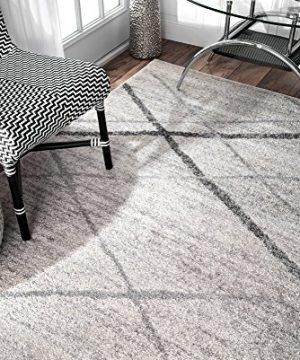 NuLOOM Thigpen Contemporary Area Rug 5 X 8 Grey 0 4 300x360