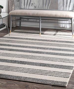 NuLOOM Vernazza Striped Area Rug 4 X 6 Grey 0 300x360