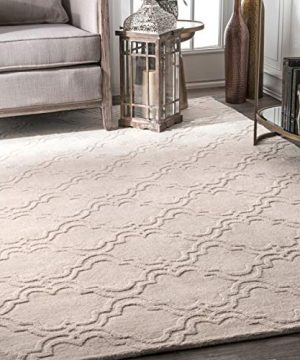 NuLOOM Wilhelmina Hand Tufted Wool Rug 6 X 9 Cream 0 300x360