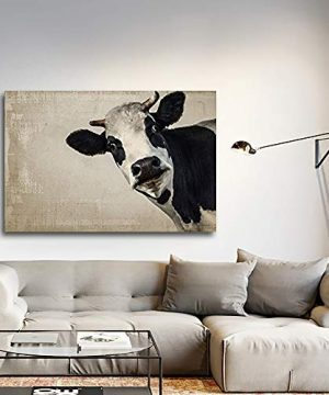 Wall26 A Cow On Vintage Background Gallery Canvas Art Wall Decor 24x36 0 300x360