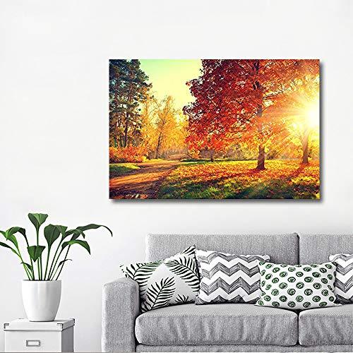 Wall26 Autumn Scene Fall Canvas Art Wall Decor 32 X 48 0 0
