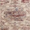 8132 Distressed Cream Burgundy 9 X 12 Area Rug Carpet Large New 0 100x100