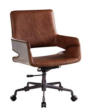 ACME Kamau Office Chair Vintage Cocoa Top Grain Leather 0 300x360