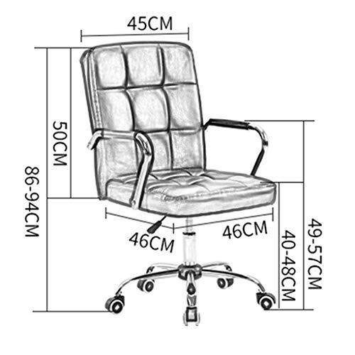 AGTRRYHZ High Back Computer Chair Adjustable Swivel PU Backrest Office Chairs With Chrome Base And Armrests Home Indoor Ergonomic Seat Creamy White 0 0