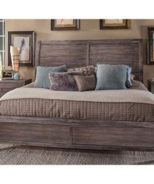 Aurora Weathered Gray Queen Sleigh Bed 0 0 300x360
