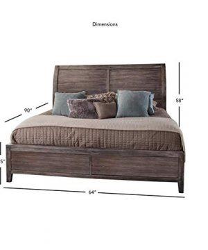 Aurora Weathered Gray Queen Sleigh Bed 0 2 300x360