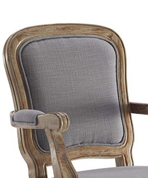 Benjara Fabric Upholstered Wooden Office Swivel Chair With Adjustable Height Gray 0 1 300x360
