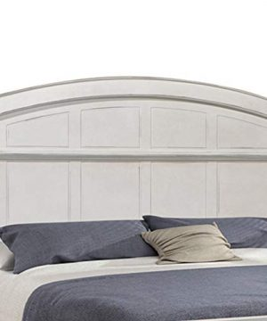 Benjara Farmhouse Style Arched Panel California King Bed With Molded Details White 0 0 300x360