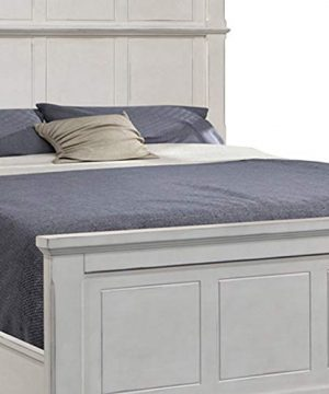 Benjara Farmhouse Style Arched Panel California King Bed With Molded Details White 0 1 300x360