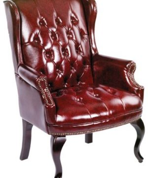 Boss Office Products Wingback Traditional Guest Chair In Burgundy 0 300x360