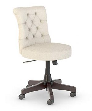 Bush Furniture Key West Mid Back Tufted Office Chair In Cream Fabric 0 300x360