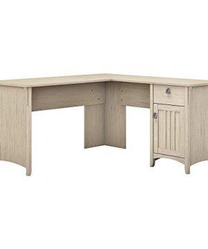 Bush Furniture Salinas L Shaped Desk With Storage In Antique White 0 300x360