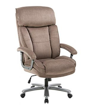 CLATINA Ergonomic Big Tall Executive Office Chair With Upholstered Swivel 400lbs High Capacity Adjustable Height Thick Padding Headrest And Armrest For Home Office BIFMA Certified Beige 0 300x360