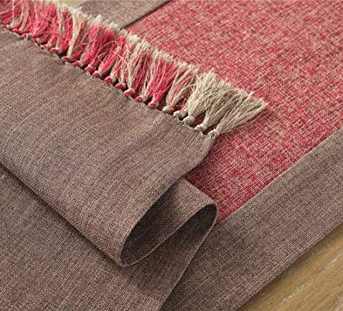 Cicy Bell Soft Cotton Linen Woven Classic Table Runner With Fringe Tasseled Table Mats Decorative Table Runner Farmhouse Table Runner Rustic Decor Table Runner Wedding Washable Runner 15x86 Inch 0 1