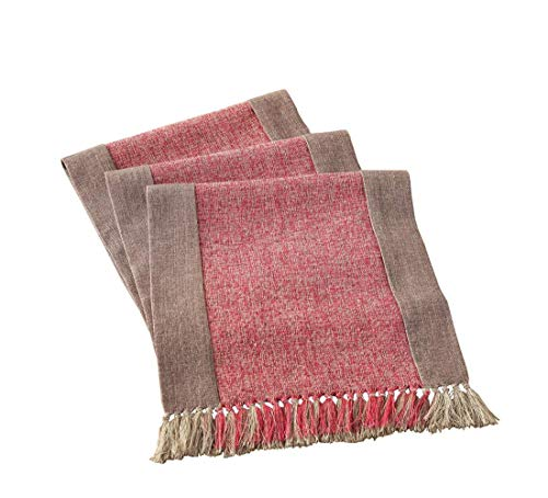 Cicy Bell Soft Cotton Linen Woven Classic Table Runner With Fringe Tasseled Table Mats Decorative Table Runner Farmhouse Table Runner Rustic Decor Table Runner Wedding Washable Runner 15x86 Inch 0