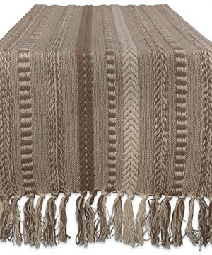 DII Braided Cotton Table Runner Perfect For Spring Fall Holidays Parties And Everyday Use 15x72 Stone Taupe 0 300x360