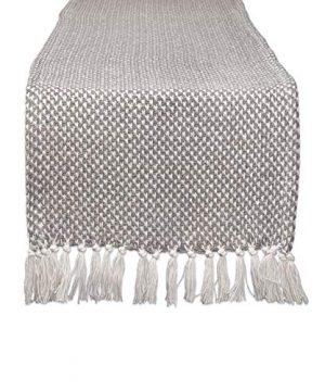 DII CAMZ11265 Braided Farmhouse Woven Table Runner 15 X 72 Inches Gray 0 300x360