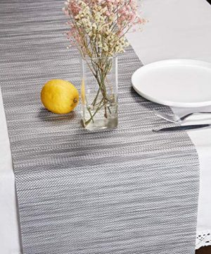 DOLOPL Table Runner Grey Table Runners Outdoor Table Runner 1272 Non Slip Heat Resistant Easy To Clean Modern Farmhouse Kitchen Table Runner For Patios Family Dinner Office Kitchen Table 0 300x360