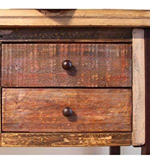 Duplicate Listing Crafters Weavers Rustic Antique Style Desk Library Table With Multi Color Finish 0 0 300x330