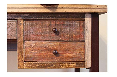 Duplicate Listing Crafters Weavers Rustic Antique Style Desk Library Table With Multi Color Finish 0 0