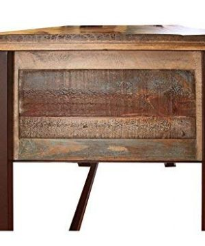 Duplicate Listing Crafters Weavers Rustic Antique Style Desk Library Table With Multi Color Finish 0 3 300x360