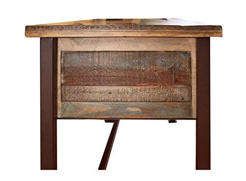 Duplicate Listing Crafters Weavers Rustic Antique Style Desk Library Table With Multi Color Finish 0 3