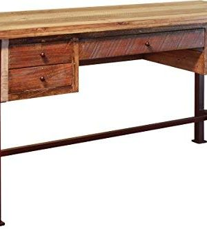 Duplicate Listing Crafters Weavers Rustic Antique Style Desk Library Table With Multi Color Finish 0 300x332