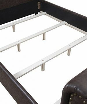 Eagle Furniture Jayden Tufted Upholstered Platform Bed With Nail Head Detailing Queen Sandstone 0 0 300x360