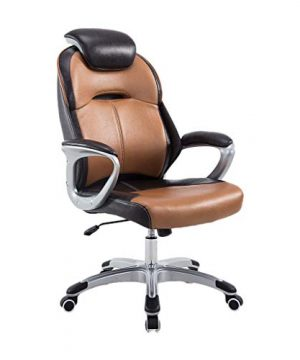Ergonomic Office Game Folding Chair E Sports Executive PU Leather Fabric High Back Boss Racing Gambling Computer Massage Swivel Lounge Black Chair Color Hot Gold Color 0 300x360