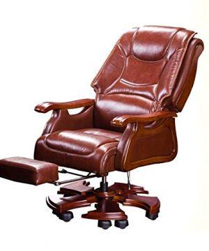 FANGLU Fashion Chair Boss Chair Home Reclining Business Office Swivel Chair Comfortable Long Sitting Computer Chair Color Coffee B 0 0 300x360