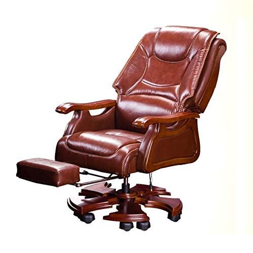 FANGLU Fashion Chair Boss Chair Home Reclining Business Office Swivel Chair Comfortable Long Sitting Computer Chair Color Coffee B 0 0