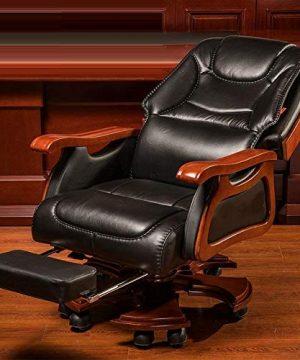 FANGLU Fashion Chair Boss Chair Home Reclining Business Office Swivel Chair Comfortable Long Sitting Computer Chair Color Coffee B 0 1 300x360