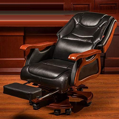 FANGLU Fashion Chair Boss Chair Home Reclining Business Office Swivel Chair Comfortable Long Sitting Computer Chair Color Coffee B 0 1