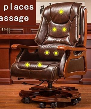 FANGLU Fashion Chair Boss Chair Home Reclining Business Office Swivel Chair Comfortable Long Sitting Computer Chair Color Coffee B 0 300x360