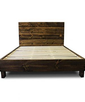 Farmhouse Bed Frame And Headboard SetReclaimed StyleRustic And Old World 0 300x360