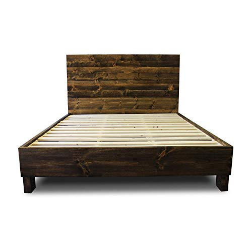 Farmhouse Bed Frame And Headboard SetReclaimed StyleRustic And Old World 0