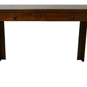Forest Designs Traditional LaptopWriting Table With Drawers 66 W Unfinished Alder 0 300x301