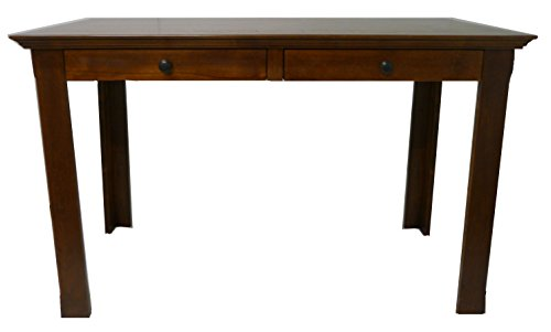 Forest Designs Traditional LaptopWriting Table With Drawers 66 W Unfinished Alder 0