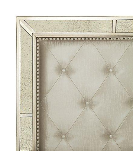 Furniture Of America Hanson Modern Victorian Platform Bed Queen Silver 0 0