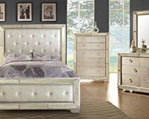Furniture Of America Hanson Modern Victorian Platform Bed Queen Silver 0 1 300x240