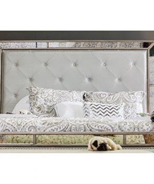 Furniture Of America Hanson Modern Victorian Platform Bed Queen Silver 0 2 300x360