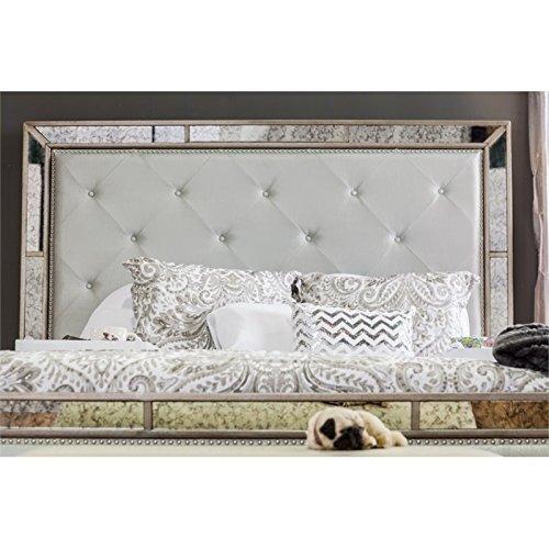 Furniture Of America Hanson Modern Victorian Platform Bed Queen Silver 0 2