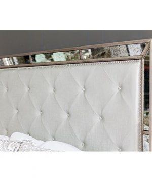 Furniture Of America Hanson Modern Victorian Platform Bed Queen Silver 0 3 300x360