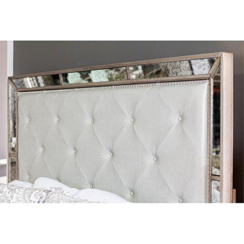 Furniture Of America Hanson Modern Victorian Platform Bed Queen Silver 0 3