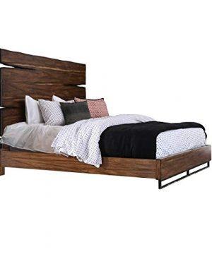 Furniture Of America Trippen Rustic Queen Bed In Dark Brown And Dark Walnut 0 300x360