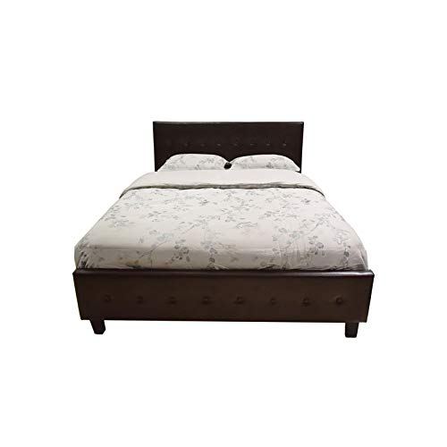 Galaxy Home Sita LED Queen Size Wood Bed In Espresso Brown 0