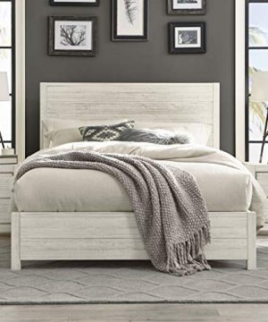 Grain Wood Furniture Montauk Full Size Solid Wood Panel Bed Rustic Off White 0 300x360