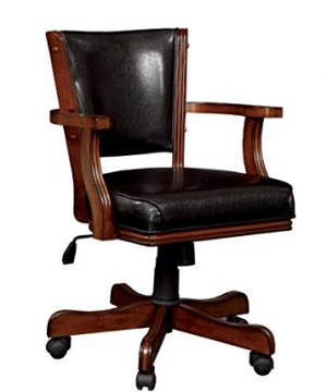 HOMES Inside Out Out Out Thatcher Contemporary Height Adjustable Game Chair Cherry 0 300x360